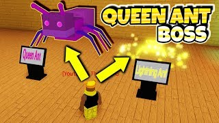 *SECRET* ANT QUEEN BOSS & LIGHTNING ANT In Bee Swarm Simulator?! (Roblox)