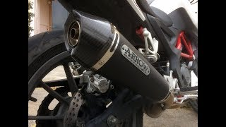 Benelli BN 251 + Arrow X-Kone exhaust - Test