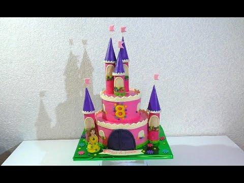 торт-замок принцессы фото