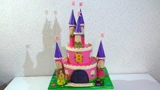 Торт ЗАМОК для принцессы МК Как сделать торт ЗАМОК мастер-класс