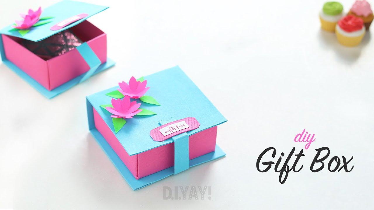 Diy Gift Box Ideas Gift Ideas Gift Box Youtube