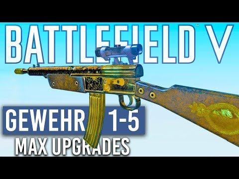 Fully Upgraded Gewehr 1-5 (Scuffed M1A1) Battlefield 5 thumbnail