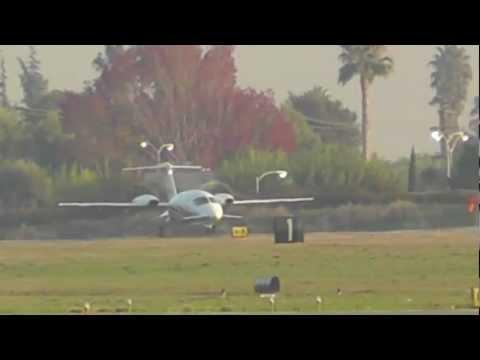 Piaggio P-180 Avanti Departing Hayward California 12-2011