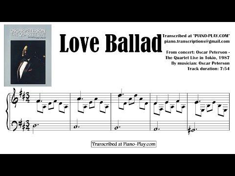 Oscar Peterson - Love Ballad / from: QUARTET LIVE IN TOKYO 1987 (transcription)