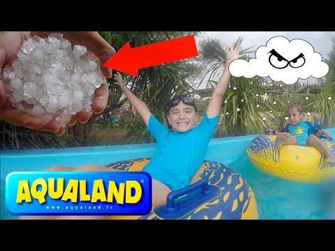 VLOG - Fun Aquatique au Congo River & VIOLENT ORAGE DE GRÊLE ! - Parc Aquatique Aqualand - 2/2