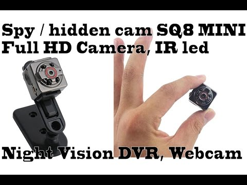 Spy  hidden cam SQ8 MINI Full HD cam, CAR DVR, webcam, test daytime & night, ir led, night vision