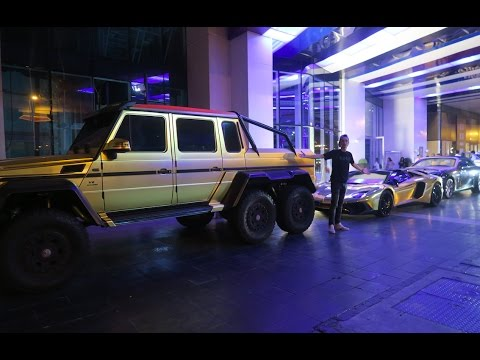 FULLY GOLDEN G-WAGON 6X6 VS Gold Plated Lamborghini Aventador !!!!