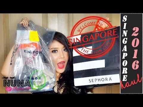 SINGAPORE Haul 2016 | เปิดถุงช้อปปิ้งเครื่องสำอางค์จากสิงคโปร์| Nuuna.makeup