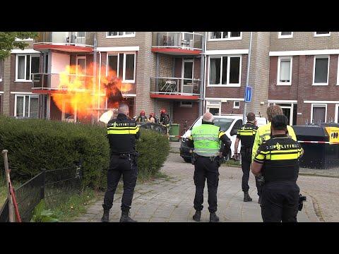Woning explodeert in Groningen