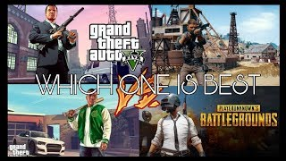 PUBG vs GTA V | PUBG NEW MAP | WINTER 2018 | WHICH GAME IS BEST | Hindi