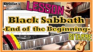 How to Play Black Sabbath END OF THE BEGINNING Tabs Akkorde  E Gitarre Hauptriff [HD] Deutsch