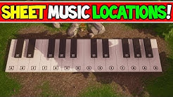 all sheet music piano locations solutions week 6 challenge fortnite battle royale duration 2 42 - week 6 challenges fortnite sheet music