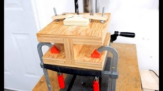 I-beam work table for workbench or drill press table.