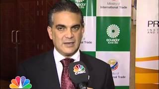 لقاء مع فرانسسكو ريبادينيرا وزير التجارة الخارجية في الإكوادور / منى الحيمود