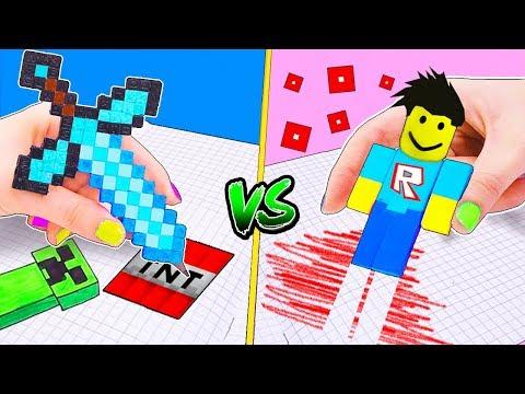 13 ЛАЙФХАКОВ Канцелярия Майнкрафт против Роблокс Поделки и Идеи из игр для Школы! LIFE HACKS - Видео онлайн