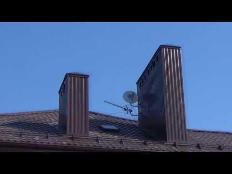 Как обшить трубу на крыше металлопрофилем своими руками видео