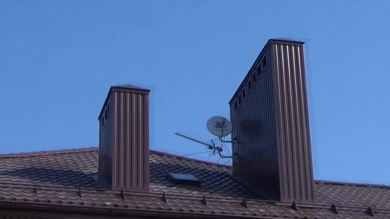 дымоход через крышу ондулином