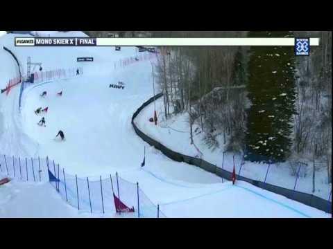 2012 Winter X Games - Sam Danniels takes Gold in Mono Skier X