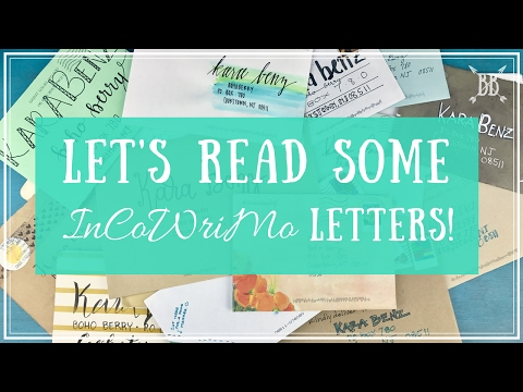 Reading InCoWriMo Letters!