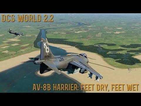 """[DCS World] 2.2 Open Alpha (Oculus Rift) : AV-8B Harrier """"FEET DRY, FEET WET"""""""