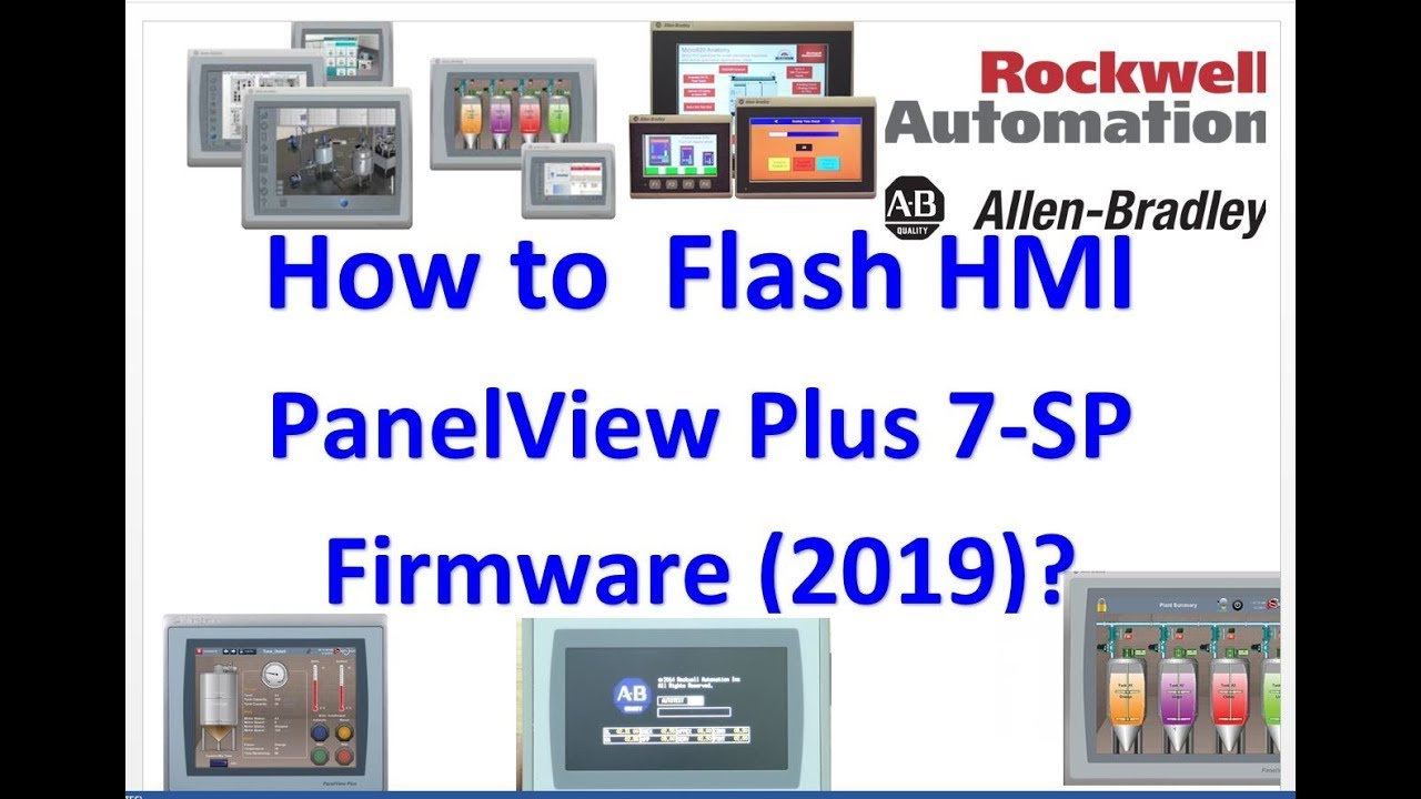 How to Upgrade the Firmware for PanelView Plus 7 S/P (AB HMI) 2019