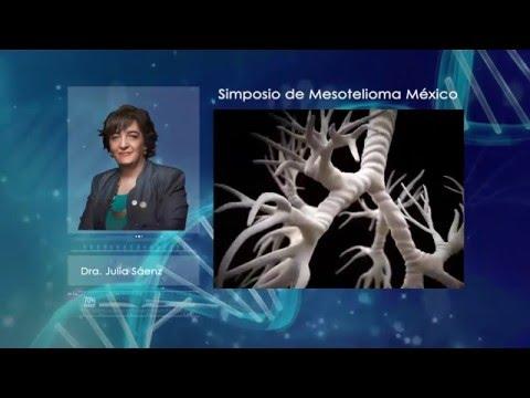 Simposio de Mesotelioma México. Dra. Julia Saenz