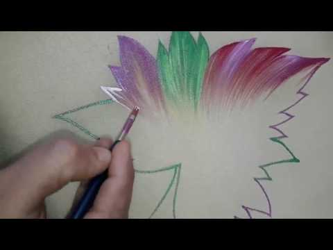 How to do Fabric Painting  And Border Design on Dupatta | Passionate Arts | Latest 2018 Designs  |