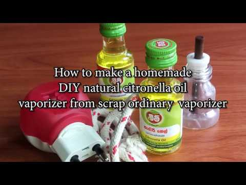 How to make a homemade DIY natural citronella oil vaporizer, from scrap ordinary vaporizer