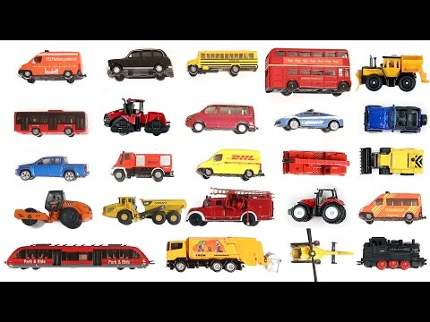 Learning Street Vehicles for Kids | Learn Transport for Children's with Tomica, Siku, Matchbox, Toys