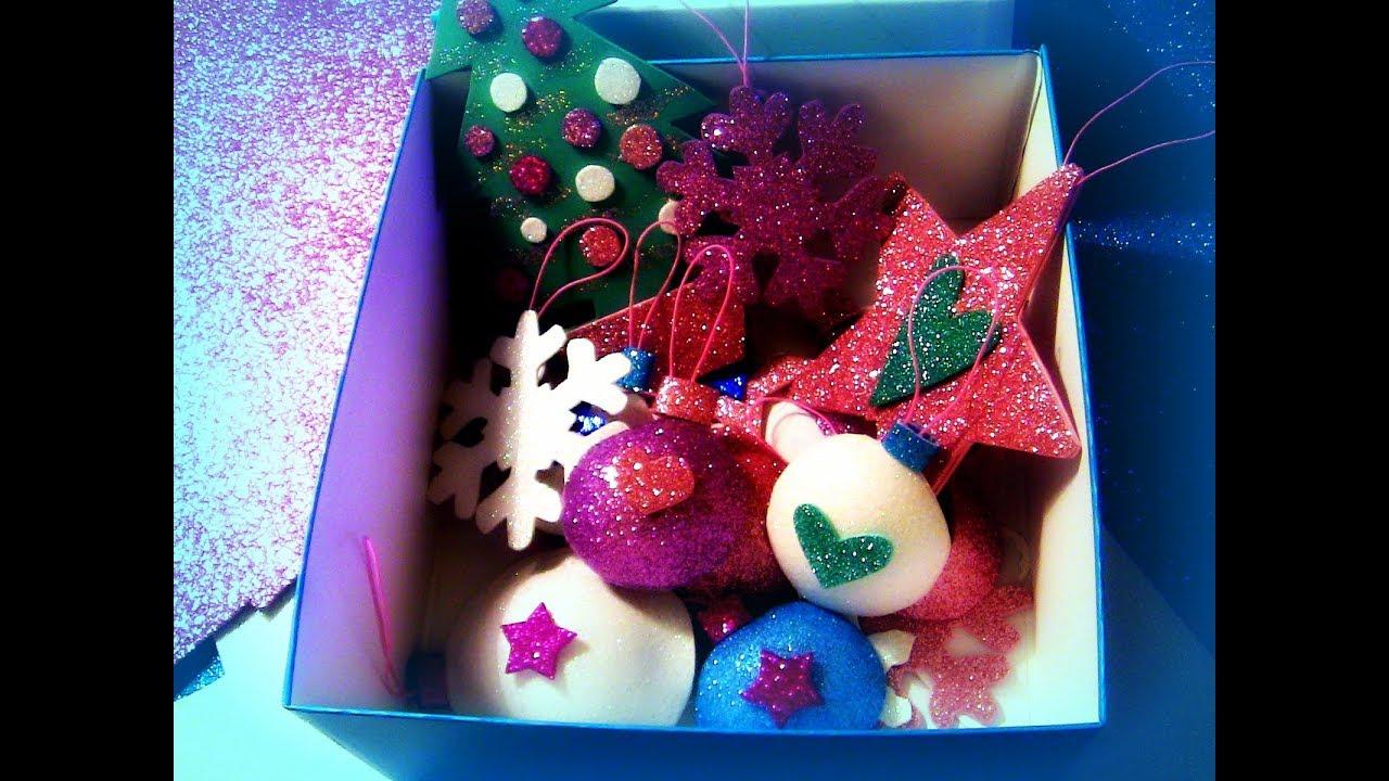 Diy facili decorazioni natalizie fai da te in gomma for Youtube decorazioni natalizie