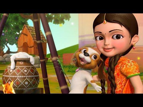 Sankranthi celebrations with Chinnu   Telugu Rhymes for Children   Infobells