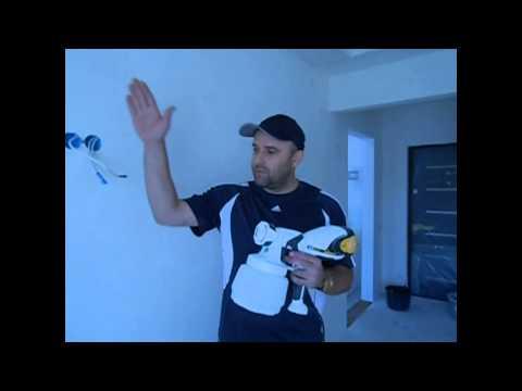 Покраска стен краскопультом WAGNER 565