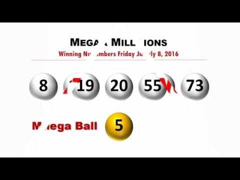 Mega Millions Winning Numbers Friday July 8, 2016; Jackpot won in Indiana