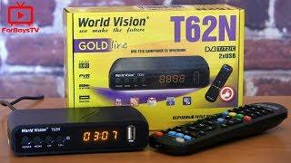 ТВ приставка DVB T2 World Vision T62N - обзор тюнера Т2 с интернетом (WiFi, IPTV, YouTube, AC3)