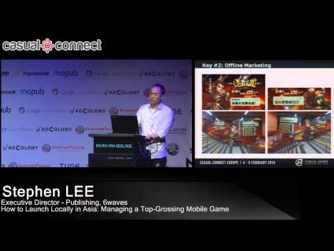 How To Launch Locally In Asia: Managing A Top-Grossing Mobile Game | Stephen LEE