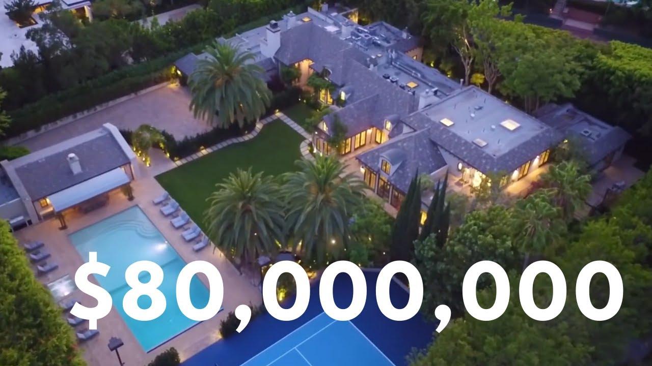 Inside Magnificent $80 Million Mega Mansion in Beverly Hills