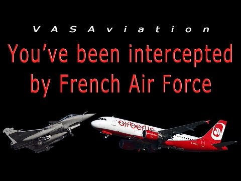 [REAL ATC] Air Berlin A320 INTERCEPTED over FRANCE!!
