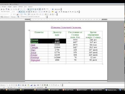 Как редактировать диаграмму в ворде