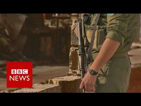 Inside Aleppo province with Kurdish forces fighting IS - BBC News