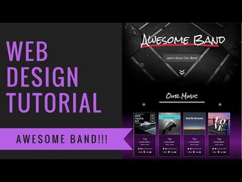 Web Design Tutorial, How To Make A Website For Awesome Band A Divi Theme Tutorial