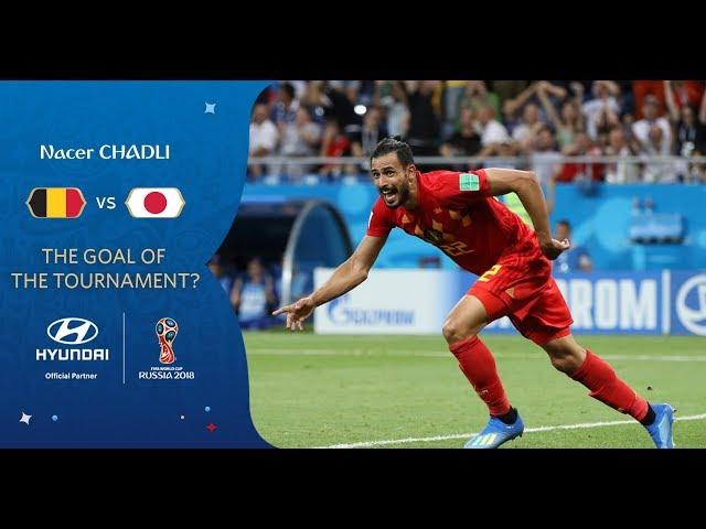 Nacer CHADLI goal vs Japan   2018 FIFA World Cup   Hyundai Goal of the Tournament Nominee