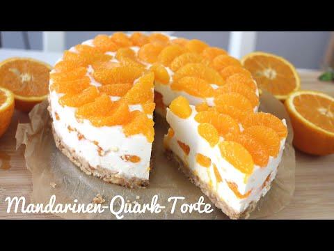 Rezept: Mandarinen-Quark-Torte OHNE BACKEN   Kühlschranktorte   Tooootaaal Lecker!!!!