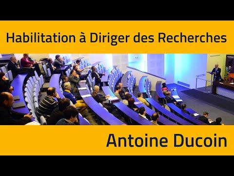 Habilitation à Diriger des Recherches - Antoine Ducoin