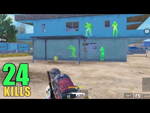 WALLHACK + AIMBOT CHEATER!! | 24 KILLS SOLO VS SQUAD | PUBG MOBILE