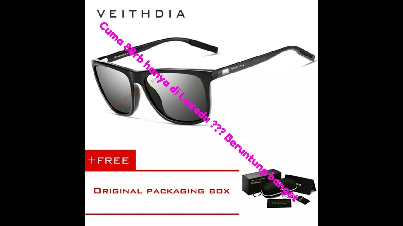c42946ac19 Review unboxing kacamata VEITHDIA 6108 - YouTube