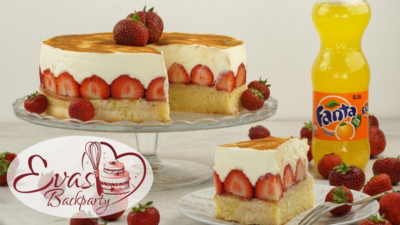 Fanta Kuchen Mit Erdbeeren Schmand Kuchen Erdbeer Torte Mit