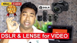 A Complete DSLR & Lens  Buying Guide for Youtube Videos | Best Camera & Lens