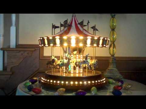Mr Christmas Carousel.Mr Christmas 75th Anniversary Christmas Carousel Youtube