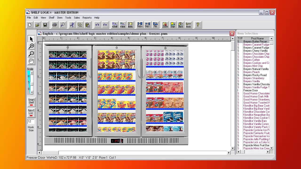 Master edition planogram software shelf logic youtube for Retail space planning software