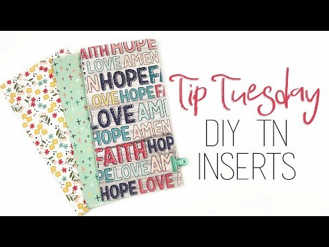 Tip Tuesday | DIY TN Inserts | 3 Different Bindings